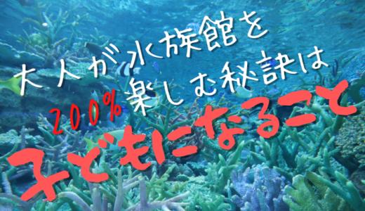 大人が水族館を200%楽しむ秘訣は子どもになること